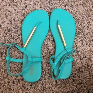 Teal mossimo sandals